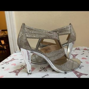 Michael Kors sparkling gold and silver heels